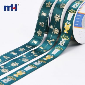 gold foil christmas ribbon