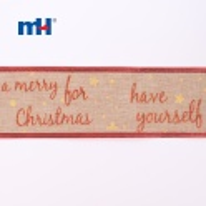 natural wired christmas ribbon