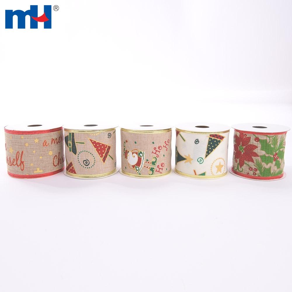 natural cotton christmas ribbon