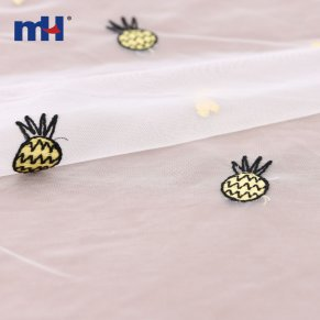 pineapple embroidered lace