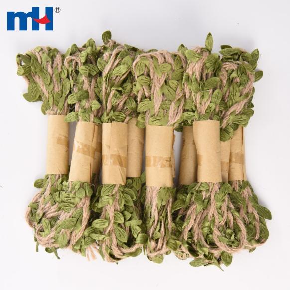 corde de feuille de ficelle verte