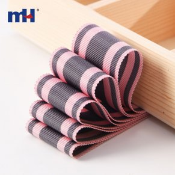 cinta de rayas rosa gris