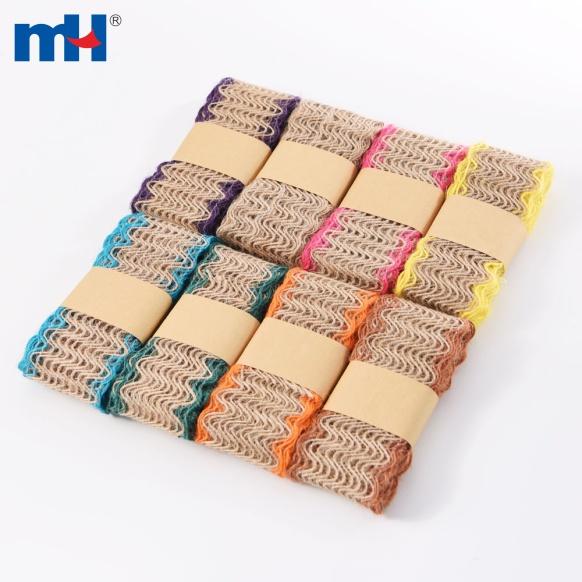 40mm burlap fabric ribbon