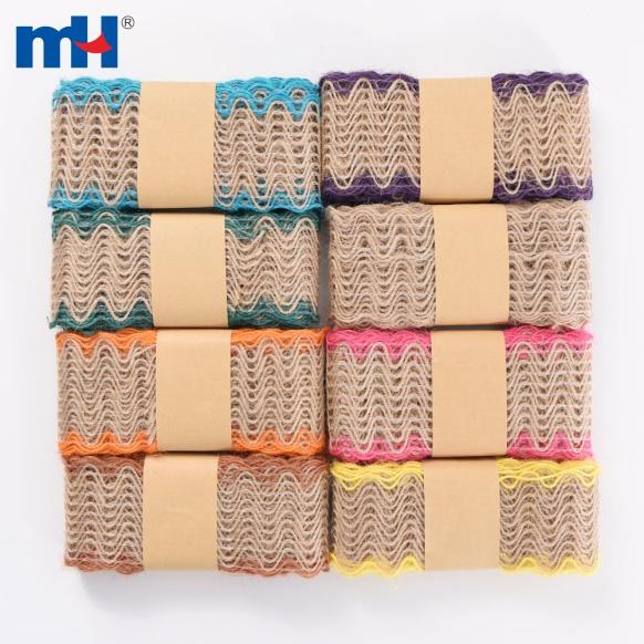 4cm burlap fabric ribbon
