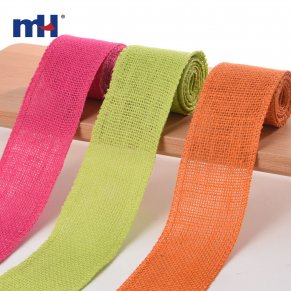 colored hessian ribbon
