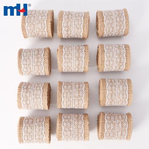 6cm кружевная лента из мешковины