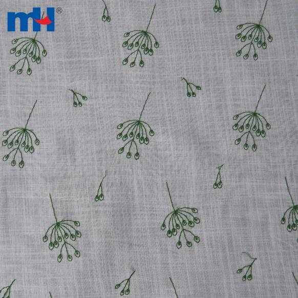 tela de algodón bordada