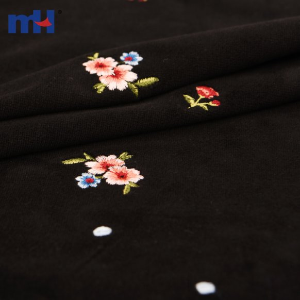 embroidered velvet fabric