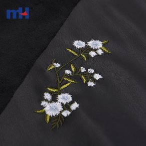 leather fabric with embroidery