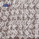 white embroidered mesh fabric