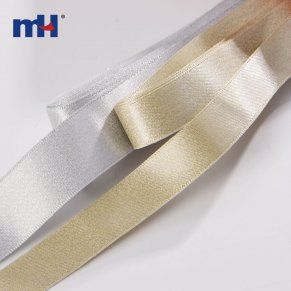 metallic glitter satin ribbon