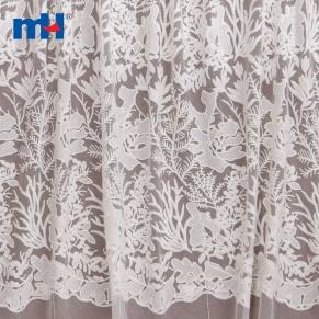 white mesh lace fabric