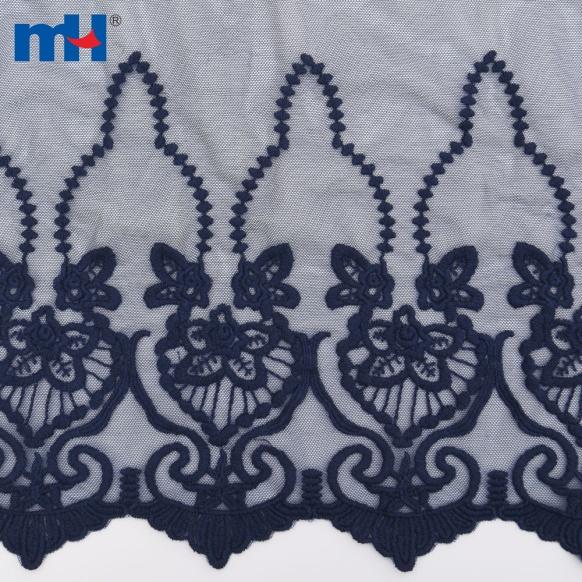 tessuto a maglia ricamato