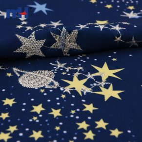 navy blue embroidery fabric