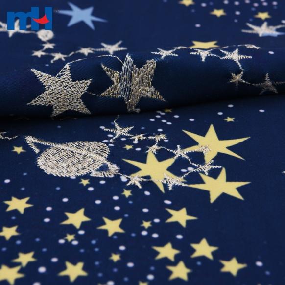 темно-синяя ткань вышивки