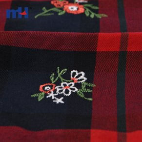 plaid embroidery fabric
