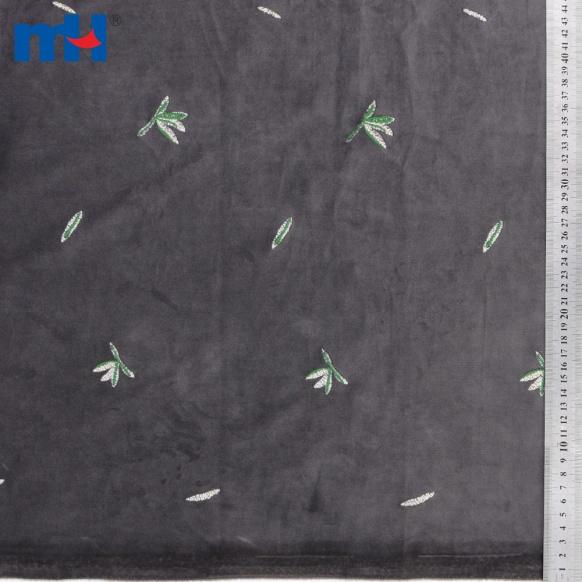 embroidery velvet fabric