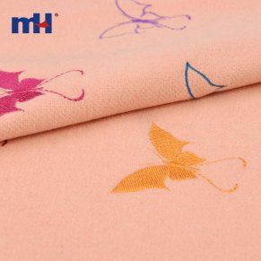 embroidered wool fabric