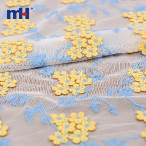 mesh embroidered fabric