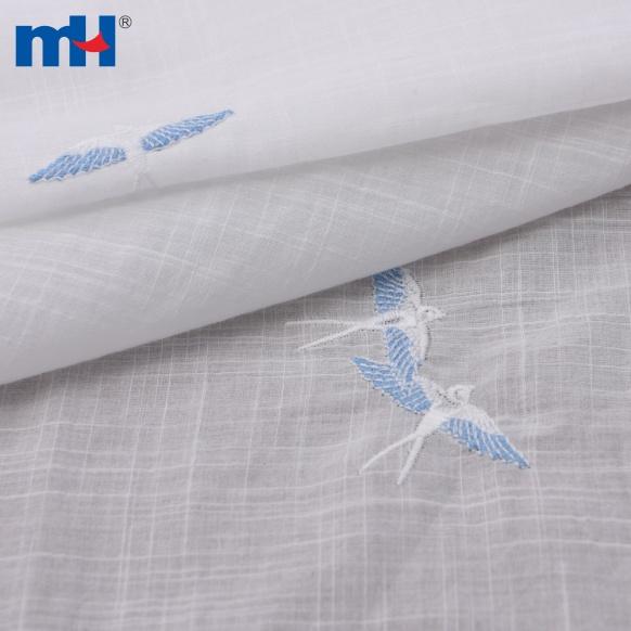 pano de algodão branco slub