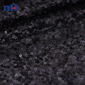 black sequins fabric