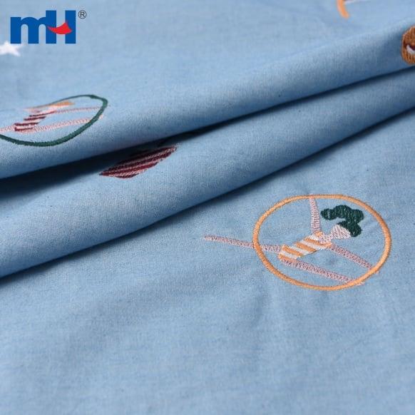 washed denim fabric