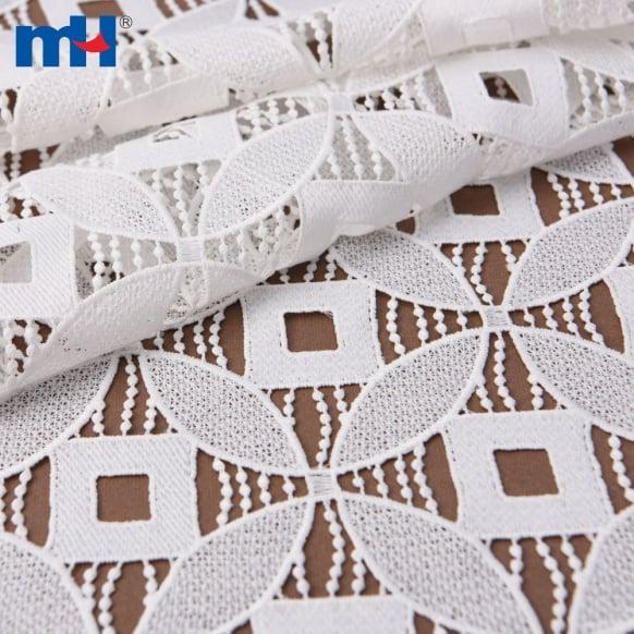 tecido bordado guipura