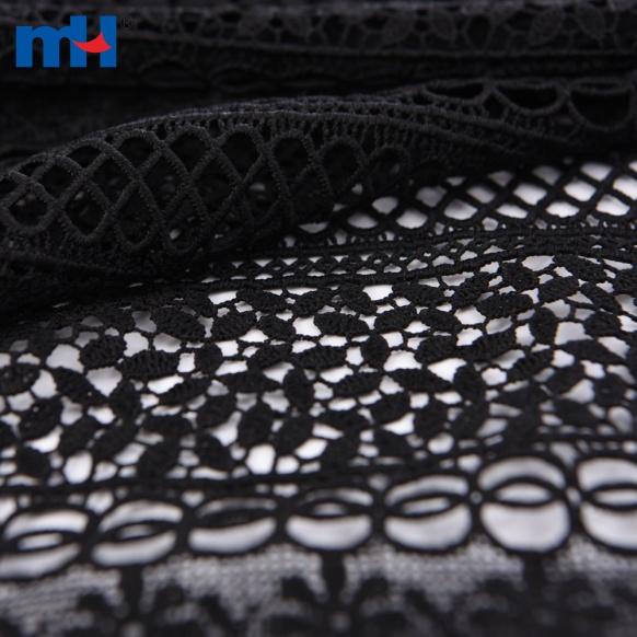 Черная кружевная ткань
