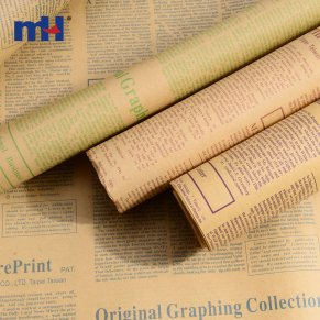 Newspaper Print Wrapping Paper