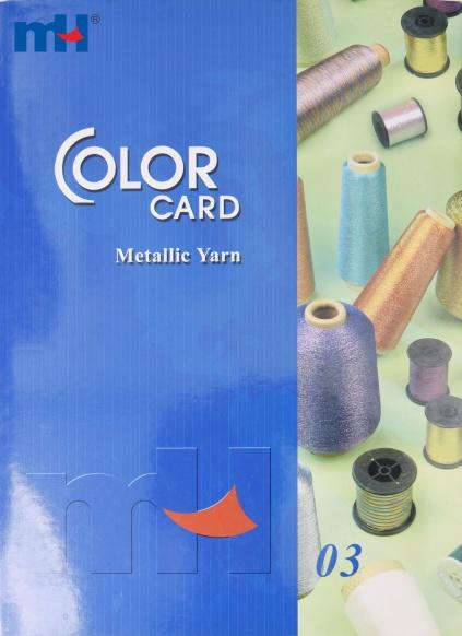 Cartão metálico da cor do fio