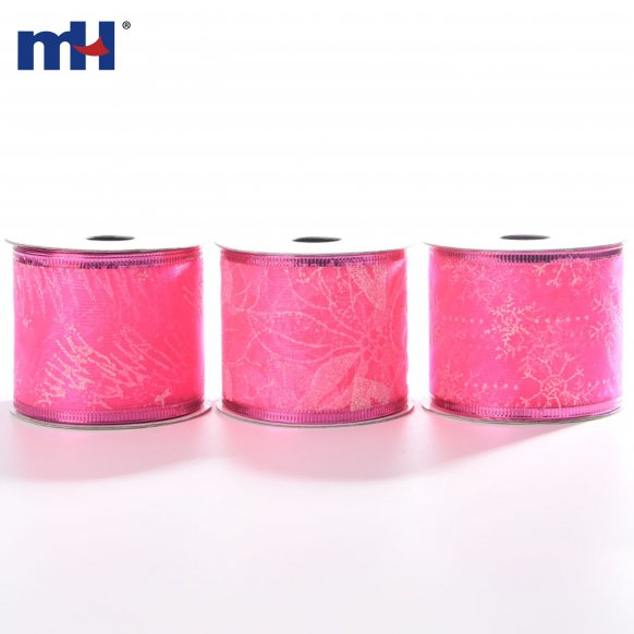 pink wired ribbon