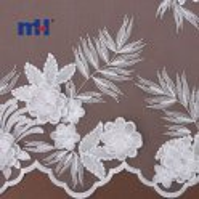 20NL-0104-1 encaje de flores 3d