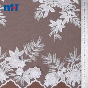 20NL-0104 3d düğün dantel kumaş