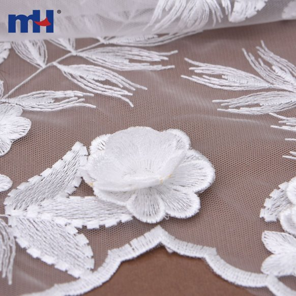 20NL-0104-3d flower lace fabric