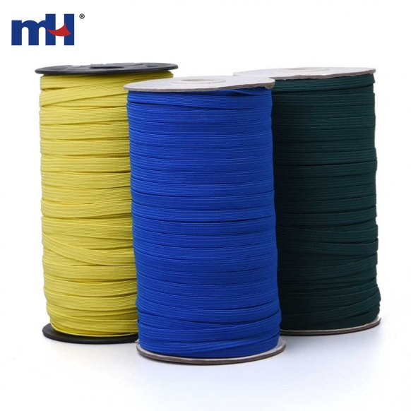 6121-0065-6mm colored flat elastic