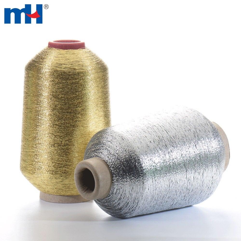 Silver Gold metallic yarn