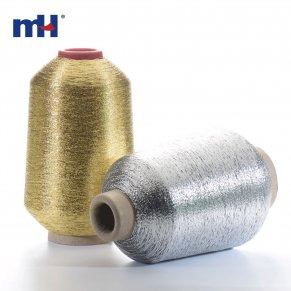 Silver Gold metallic yarn
