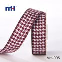 burgundy and white houndstooth