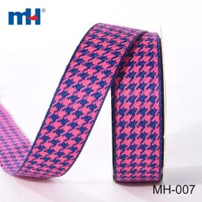 Houndstooth Tartan ribbon