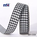 black and white houndstooth RIBBON
