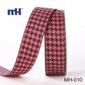 black and red Houndstooth Ribbon