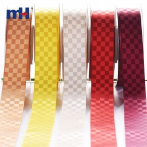 woven geometric satin ribbon