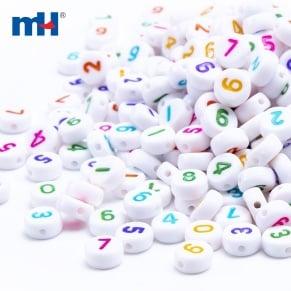 flat round beads