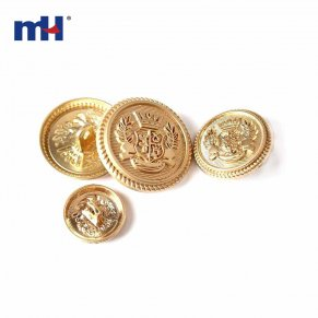 gold military button-1