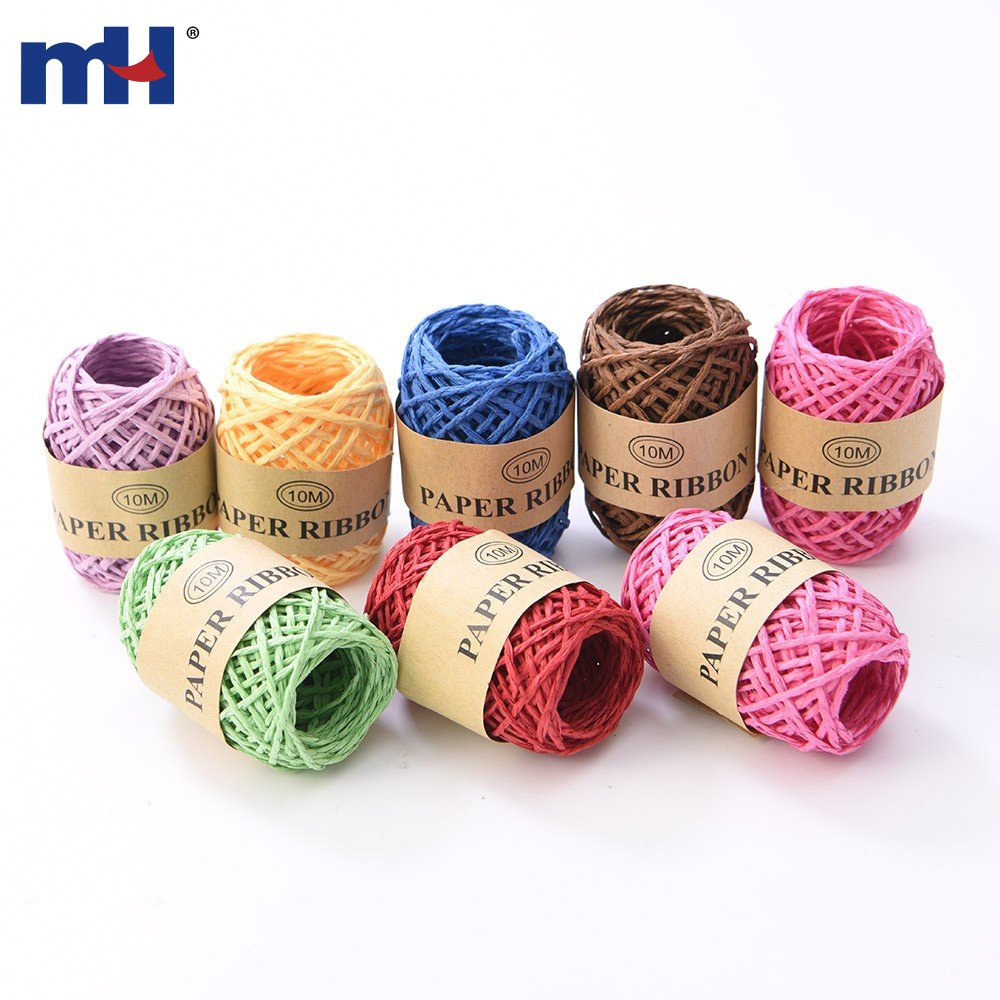 10X Raffia Natural Rope Crafts Wedding Gift Wrapping Cord Twine DIY Scrapbook BW