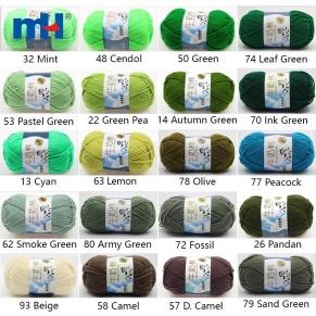 milk cotton yarn colors