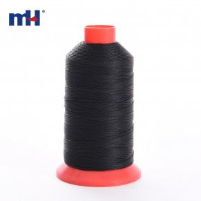black bonded poyester thread