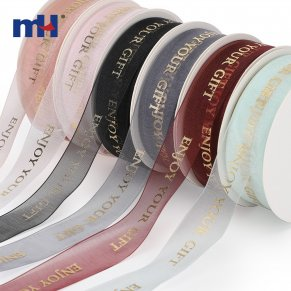 custom logo sheer ribbon