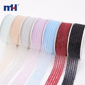 metallic striped organza ribbon