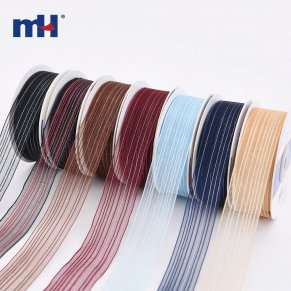 Metallic Stripe Ribbon